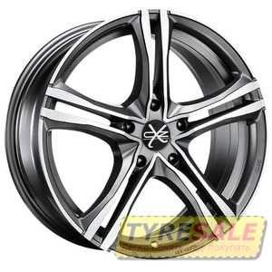 Купить OZ X5B MATT GRAPHITE DIAMOND CUT R17 W7.5 PCD5x112 ET35 DIA75
