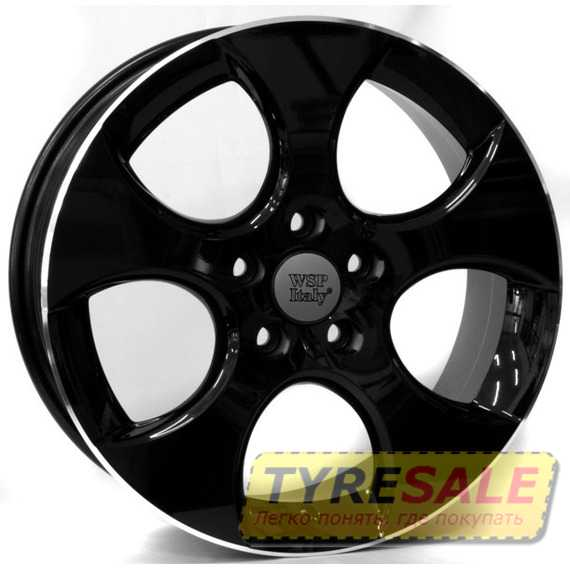 WSP ITALY Ciprus W444 GLOSSY BLACK LIP POLISHED - Интернет магазин шин и дисков по минимальным ценам с доставкой по Украине TyreSale.com.ua