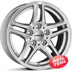 Купить BORBET XR brilliant silver R16 W7.5 PCD5x112 ET45 DIA66.6