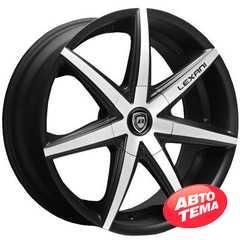 LEXANI R-7 Flat Blk/Mach Face - Интернет магазин шин и дисков по минимальным ценам с доставкой по Украине TyreSale.com.ua