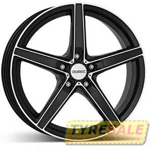 Купить DEZENT RN dark BASE Black/polished R18 W8 PCD5x112 ET35 DIA70.1