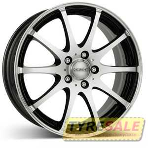 Купить DEZENT V dark BASE Black/polished R17 W7 PCD5x114.3 ET40 DIA71.6