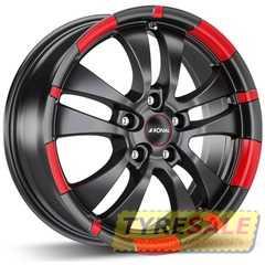 Легковой диск RONAL R59 Jet Black-matt-red rim - Интернет магазин шин и дисков по минимальным ценам с доставкой по Украине TyreSale.com.ua