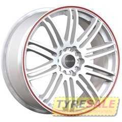 Легковой диск TENZO RACING TenSpec Matte White w/Red Stripe - Интернет магазин шин и дисков по минимальным ценам с доставкой по Украине TyreSale.com.ua