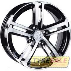 Легковой диск REPLICA Peugeot JT-1721 BM - Интернет магазин шин и дисков по минимальным ценам с доставкой по Украине TyreSale.com.ua