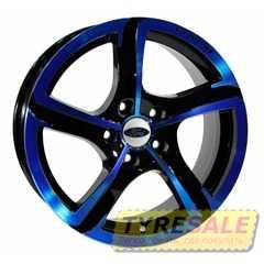Легковой диск PDW Halo Black With Blue Cover - Интернет магазин шин и дисков по минимальным ценам с доставкой по Украине TyreSale.com.ua