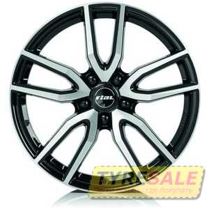 Купить Легковой диск RIAL Torino Diamond Black Front Polished R16 W6.5 PCD5x105 ET40 DIA56.6