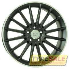WSP ITALY MERCEDES SHANGHAI ME12 DULL BLACK R POLISHED W773 - Интернет магазин шин и дисков по минимальным ценам с доставкой по Украине TyreSale.com.ua