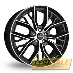 Купить MOMO MASSIMO BLACK MATT POLISHED R16 W7 PCD5x100 ET42 DIA72.3
