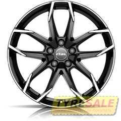 Купить RIAL Lucca Diamond Black Front Polished R17 W7.5 PCD5x112 ET45 DIA70.1