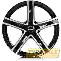 Купить RIAL QUINTO Diamond Black Front Polished R20 W9.5 PCD5x114.3 ET38 DIA70.1