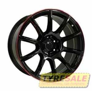 Купить Off Road Wheels OW1012 GLOSSY BLACK RED LINE RIVA RED R20 W8.5 PCD6x139.7 ET10 DIA110.5