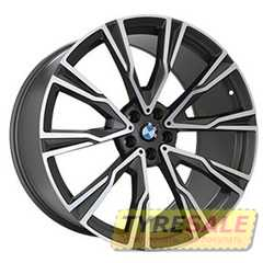 Купить Легковой диск REPLICA B987 MATTE GRAPHITE WITH MATTE POLISHED FORGED R20 W8.5 PCD5x112 ET35 DIA66.6