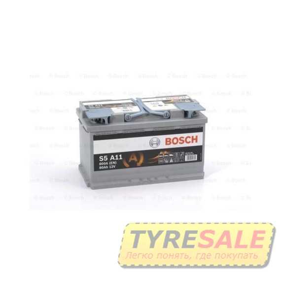 Купить Аккумулятор BOSCH AGM (S5A11) 80Ah-12v (315x175x190) R, EN 800